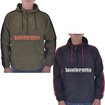 Lambretta Mens Over The Head Lightweight Hooded 1/2 Zip Up Top Pullover Jacket