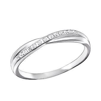 Band - en argent Sterling 925 empierré anneaux - W26333X