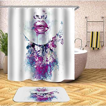 Purplish Sensual Lips Shower Curtain