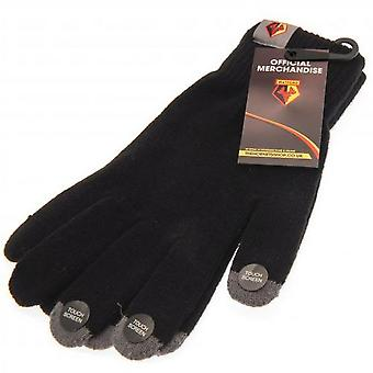 Watford FC Adults Knitted Touchscreen Gloves