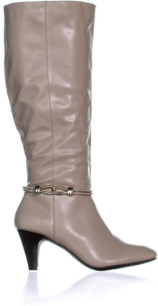 Karen Scott Womens Hollee Faux Leather Dress Knee-High Boots