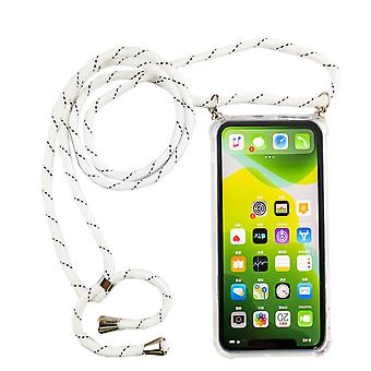 Phone Chain for Apple iPhone 11 Pro - Smartphone Necklace Case with Band - Cord with Case to Hang in White