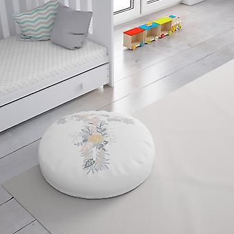 Meesoz Floor Cushion - Letter Girl-T Meesoz Floor Cushion - Letter Girl-T