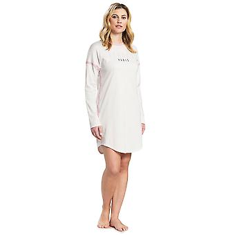 Féraud 3191046-11697 Mujeres's Casual Chic Marfil Off Blanco Algodón Sleep Camisa Nighty