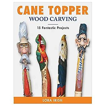 Cane Topper Wood Carving by Lora Irish