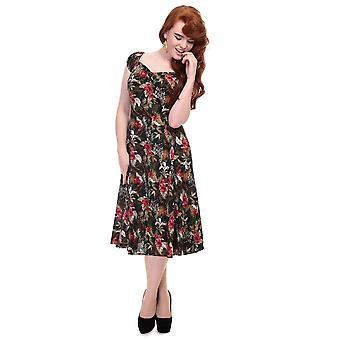 Collectif Vintage Women's Dolores Doll  Print Dress