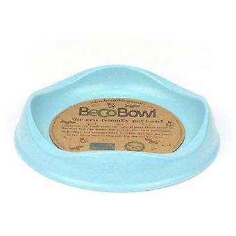 Beco Cat Bowl - Eco Friendly and Dishwasher Safe, Bamboo Food and Water Bowl - Blue