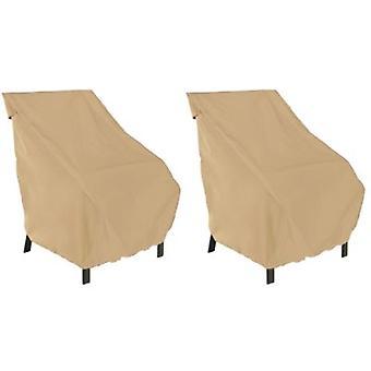 Accesorios clásicos Terrazzo High Back Patio Chair Cover - All Weather Protection Outdoor Furniture Cover (58932-2Pk)