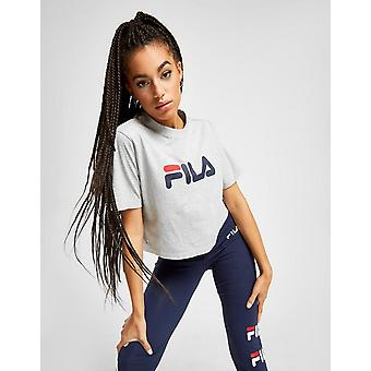 Nuovo Fila Women's Core Logo Crop Short Sleeve T-Shirt Grigio