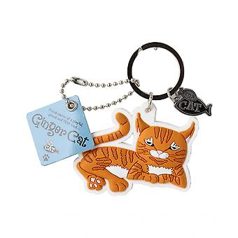 Wags & Whiskers Keyring - Ginger Cat (lying)