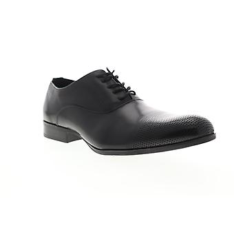 Unlisted by Kenneth Cole Tex Book Mens Black Leather Dress Lace Up Oxfords Shoes