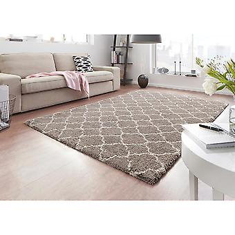 Design High Flor Rug Luna Beige Cream