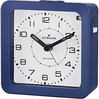 ATRIUM Alarm Clock Analog Quartz Alarm Clock A650-5 Light Snooze Blue