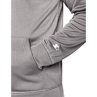 Starter Men's AUTHEN-TECH Pullover Hoodie, Exclusive, Iron Grey Heathe...