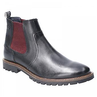Basis Londen Mens Wilkes Waxy Premium Lederen Pull On Classic Chelsea Dealer Boots