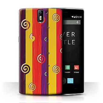 STUFF4 Case/Cover for OnePlus One/Retro Earth Tones/Modern Vibrant