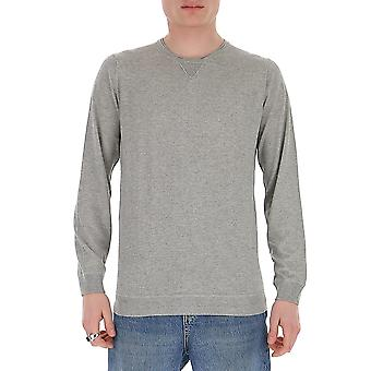 Laneus S2203cc9grigio Men's Grey Cotton Sweater
