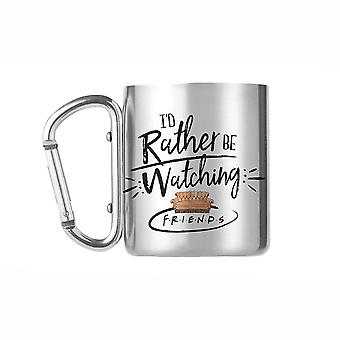 Friends 'Rather be Watching' Carabiner Mug