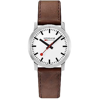 Mondaine M638.30350.11SBG Simply Elegant Heren Horloge