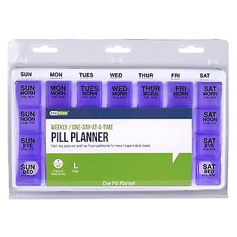 Ezy-dose weekly / one-day-a-a-time pill planner, large, 1 ea