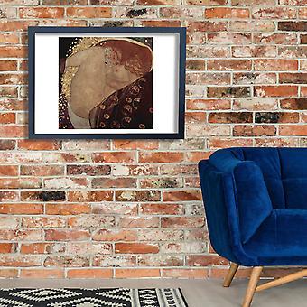 Gustav Klimt - kiertynyt Juliste Tulosta Giclee