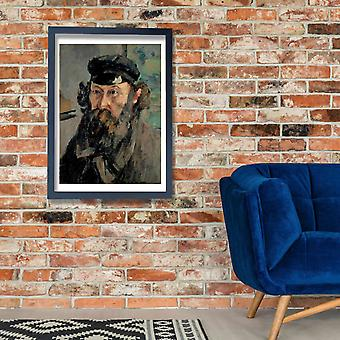 Paul Cezanne - Autoportrait en casquette cartel impresión Giclee