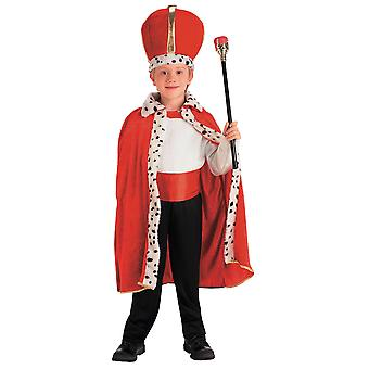 King Renaissance Robe Crown Set Boys Costume One Size