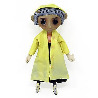 Coraline Puppe Coraline Prop Replika Doll bedruckt, aus Kunststoff, in Geschenkverpackung, von NECA.