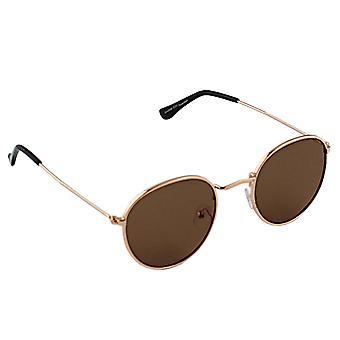 Zonnebril UV 400 Rond Polariserend Glas Goud Bruin S301_3 GRATIS BrillenkokerS301_3