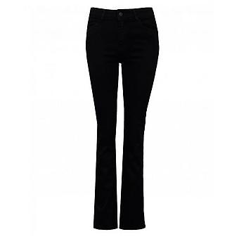 Moss Copenhagen Fray Edge Bootcut Crop Jeans