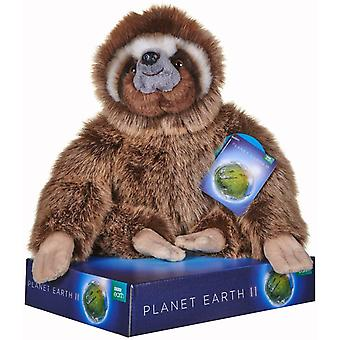 Bbc Planet Earth Ii Sloth Soft Toy With Display Stand 25 Cm