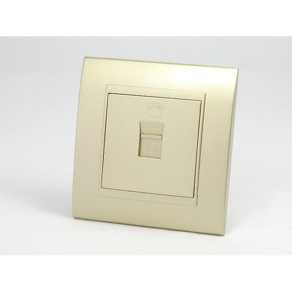 I LumoS AS Luxury Gold Plastic Arc Single Telephone Socket
