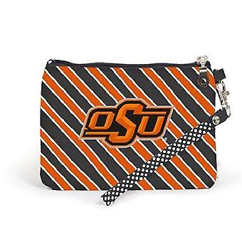 Oklahoma State Cowboys NCAA Striped Wristlet
