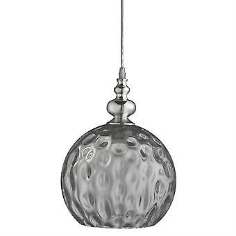 Searchlight Indiana 1 Luce ciondolo Cromo, Affumicato ,Glass Shade 2120SM
