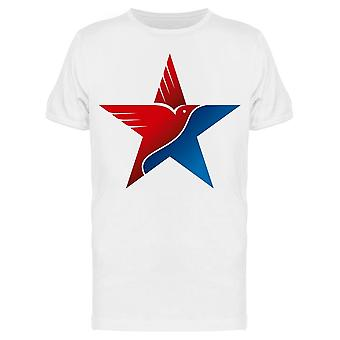 Star W/National Colors And Eagle Tee Men's -Image by Shutterstock