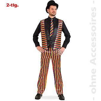 Regenboog kostuum mannen Rainbow pak clown disco heer kostuum
