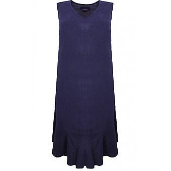 Backstage Dark Blue Linen Dress