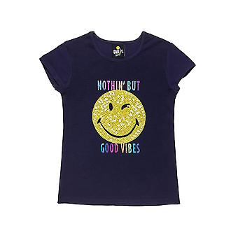 Alouette Girls' Smiley T-Shirt With Foil Lettering