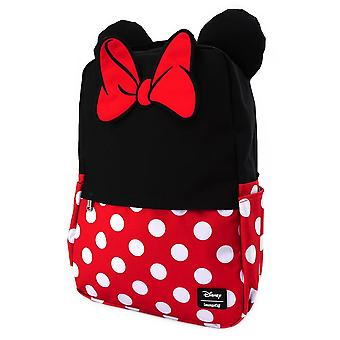 Minnie Mouse Backpack Cosplay Square Nylon new Official Disney Loungefly Black
