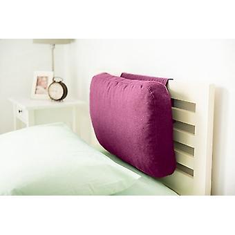 Quartos correspondentes Latte Efeito lã headboard ponderado | Apoio à cabeça do pescoço traseiro | Espuma Enchida | Roupa de cama confortável macia | Quarto residencial (Cardo)