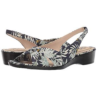 LifeStride Womens Mimosa Fabric Open Toe Casual Slingback Sandals