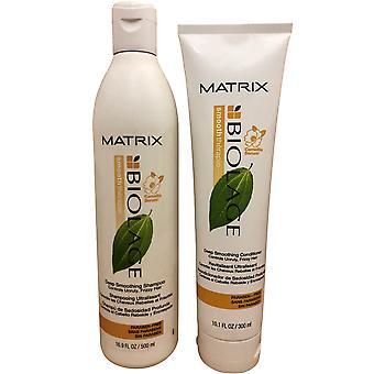Matrix Smooth Therapie Syvä tasoitus Shampoo 16.9 OZ Hoitoaine 10.1 OZ Duo