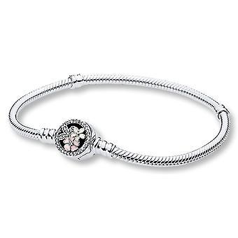 Pandora momenten Zilveren armband met poëtische Blooms gesp - 16 cm - 590744CZ-16