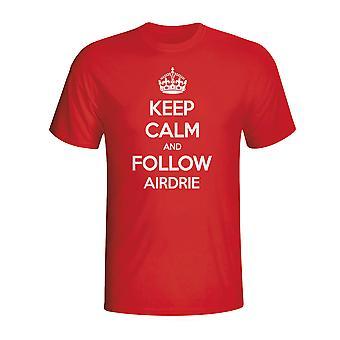 Mantenga tranquilo y siga Airdrie t-shirt (rojo)