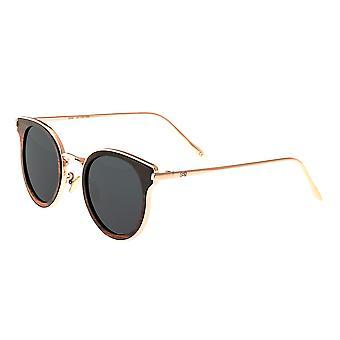 Earth Wood Derawan Polarized Sunglasses - Espresso/Black