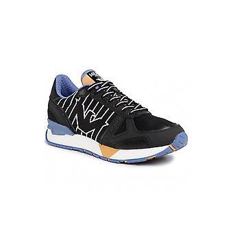 Emporio Armani Nubuck Black Sneaker Trainer