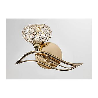 Leimo Wall Light With Switch 1 Bulb Left Golden / Crystal