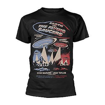 Plan 9 Jorden vs. Den Flyvende Tallerkener Officielle Tee T-shirt Herre Unisex