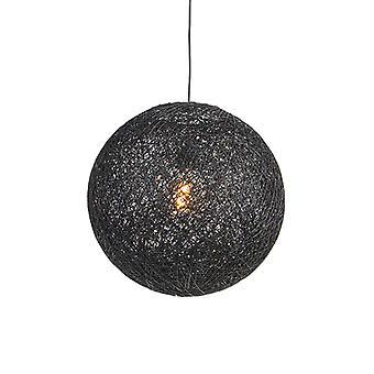 QAZQA pendentif lampe Corda 45 noir
