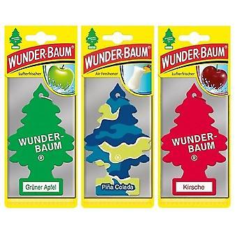 Doftgran Wunder-Baum (Äpple + Pina Colada+ Körsbär) 3-Pack
